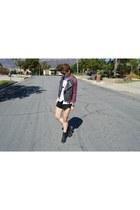 black black boots Dr Martens boots - black black shorts Target shorts