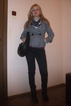 pull&bear pants - Mango purse - castro jacket - Twist scarf - Zara boots