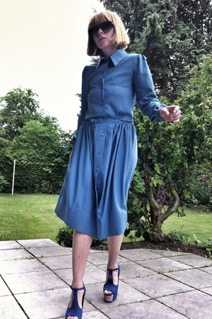 blue 1 dress maison martin margiela dress