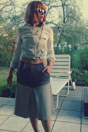 heather gray scuba jersey upper palatinate rocks skirt
