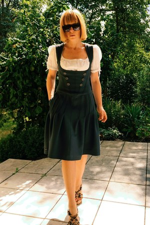 charcoal gray dirndl neopren upper palatinate rocks dress