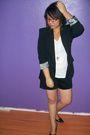 Black-forever-21-blazer-white-forever-21-t-shirt-black-forever-21-shorts-s