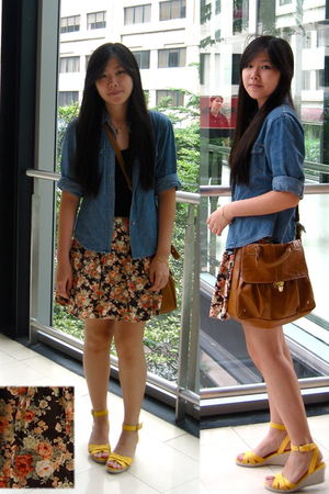 jacket - shoes - skirt - cotton on top - accessories
