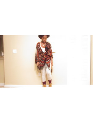 tribal Love Culture cardigan - ankle Target boots - black Urban Outfitters hat