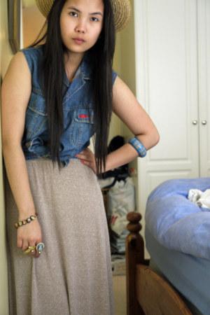 vintage guess top - Zara skirt