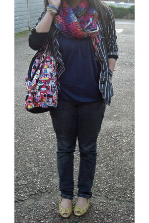 Zara blazer - vintage scarf