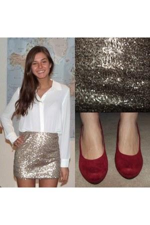 sequin palettes c&a skirt - soft Forever 21 blouse