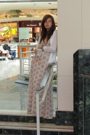 bubble gum long Bershka dress