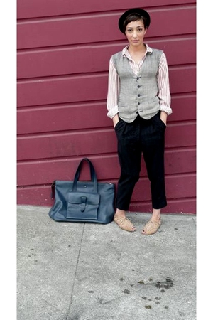 Als Attire purse - vintage esprit vest - vintage shirt - antique hat - Als Attir