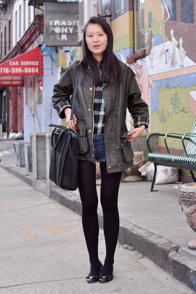 black Salvatore Ferragamo shoes - army green Gent & Co jacket