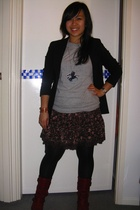 portmans blazer - Bossini t-shirt - Liz Lisa skirt - I love Billy shoes
