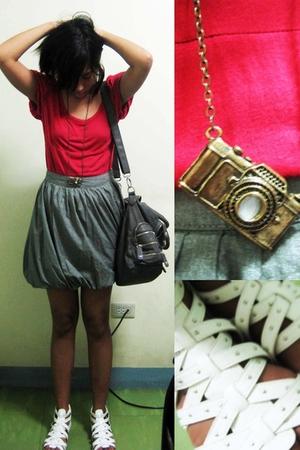 Celine blouse - kashieca skirt - Charles & Keith purse - YRYS shoes - necklace