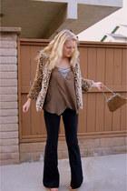 67a3202a9863 dark brown cork Paola Ferri wedges - leopard print Ruby Rose coat