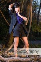 black Forever 21 blazer - purple Forever 21 top - black Forever 21 shorts - blac