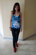 Topshop vest - Topshop top - Forever21 jeans - Zara boots - Forever21 necklace