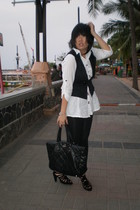 Esprit shirt - Magnolia vest - Zara leggings - Chanel purse - Zara shoes