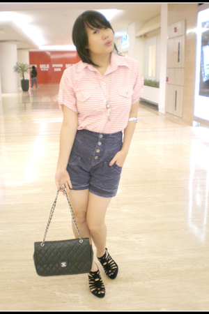 ITC mangga dua shirt - ITC mangga dua pants - Zara shoes - Chanel purse - access