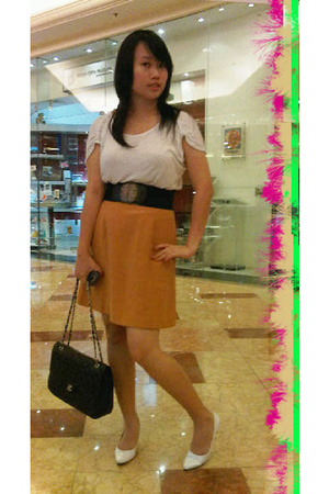 random from Hong Kong shirt - DIY skirt - moms belt - Chanel purse - Gaudi shoes