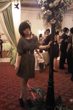 Magnolia dress - Zara shoes - moms belt - random brand purse - Juicy Couture bra