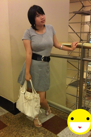 Mango shirt - moms skirt - Charles & Keith purse - Charles & Keith shoes - moms