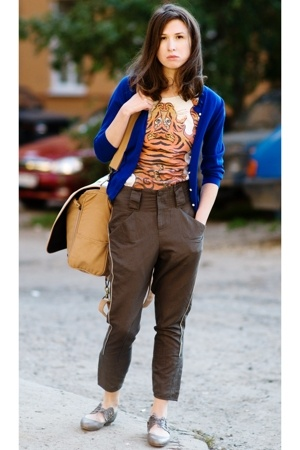Jcrew jacket - vivienne westwood t-shirt - Karen Walker pants - Jeffrey Campbell