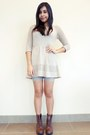 Spectator-yeswalker-boots-knit-forever-21-dress-lace-bike-forever-21-shorts