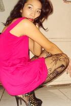 pink nothingbuth20 dress - black Terranova stockings
