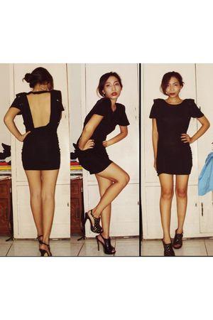 black Topshop dress - black