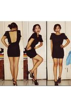 black Topshop dress - black