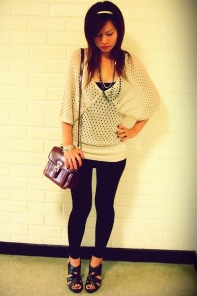 Elle world butterfly top - tube as skirt - lame leggings - strappy shoes - Vinta