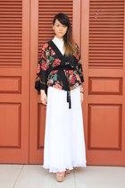 black kimono H&M jacket - white new look shirt