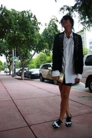 Target shoes - Ray Ban sunglasses - DIYVintage blazer - vintage shirt - vintage