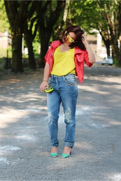 Parfois bag - H&M top - Zara heels - Bershka pants