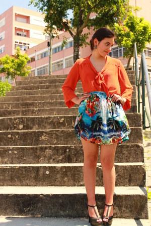 Zara skirt - H&M blouse - Bata heels
