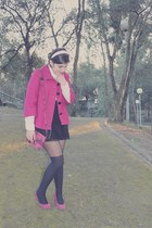 Zara bag - Bershka coat - Zara skirt - Zara heels - Zara blouse