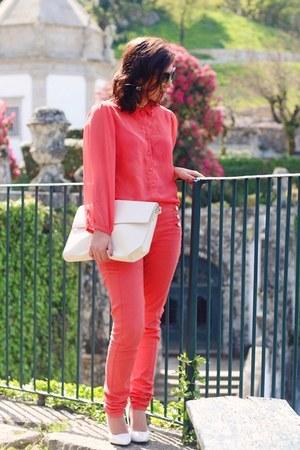 Mango shoes - pull&bear jeans - Zara bag - Primark blouse