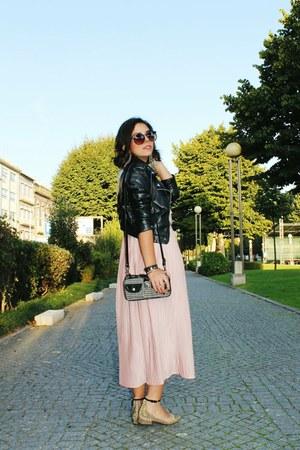 H&M jacket - H&M dress - Parfois bag - Zara flats