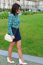 Zara skirt - Mango shoes - BLANCO bag - zeroUV sunglasses - Zara blouse