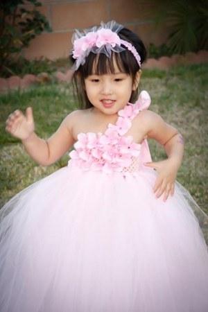 tutu dress Pink Blue India dress - pink party dress - dress
