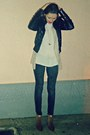 Black-h-m-jacket-bronze-tally-weijl-boots-dark-gray-bershka-jeans