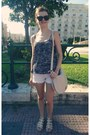 Beige-h-m-bag-ivory-tally-weijl-shorts-black-zara-blouse