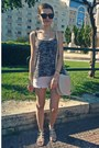 Beige-h-m-bag-ivory-tally-weijl-shorts-black-zara-blouse