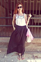 white Valentina bag - black Ralph Lauren sunglasses - white pink woman top