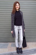 black Tally Weijl boots - silver Tally Weijl jeans - black H&M bag