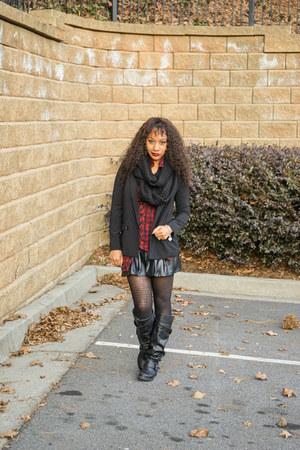 Forever 21 skirt - Guess dress - Express blazer - Target scarf