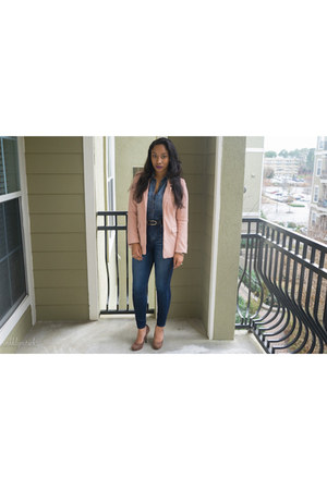 H&M blazer - Jessica Simpson shoes - Express jeans - Target shirt