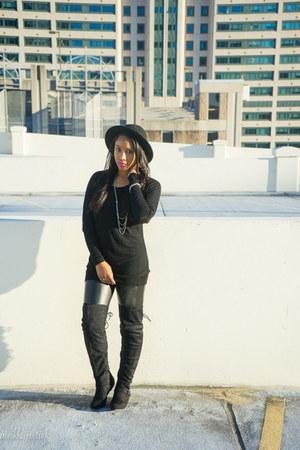 JustFab boots - Target hat - H&M shirt - H&M pants