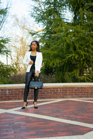 H&M blazer - Target shoes - brahmin purse - H&M pants
