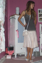 white Yesstyle shoes - brown self bra abercrombie and fitch top