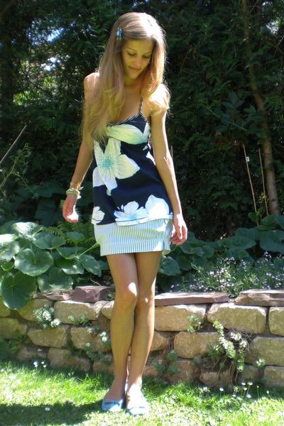 blue stripe bubble hollister skirt - blue Schu shoes